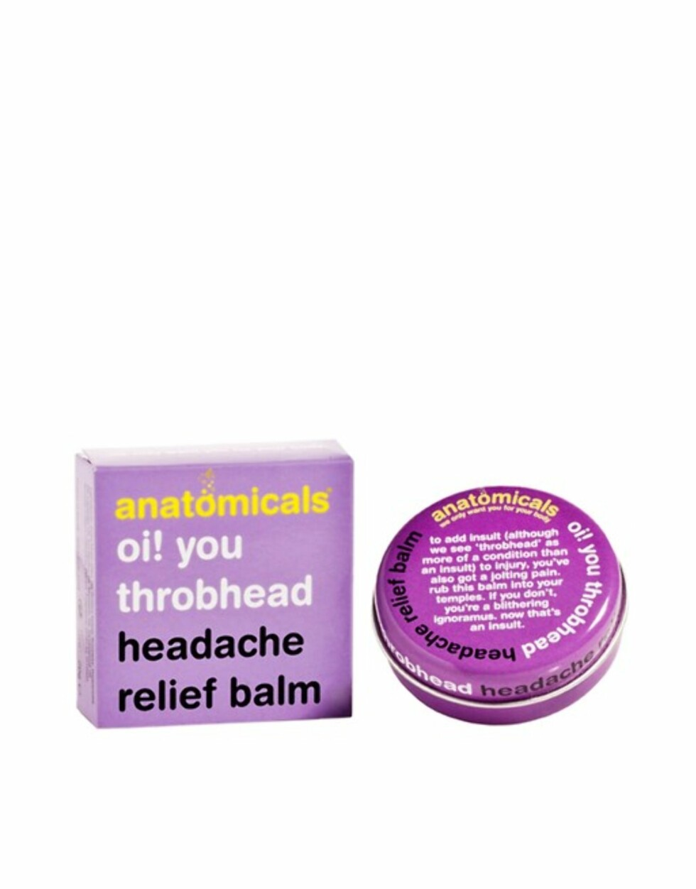 Headache Balm fra Asos |46,-| http://www.asos.com/anatomicals/anatomicals-oi-you-throbhead-headache-balm-20g/prd/4082667?clr=headachebalm&SearchQuery=sleep&gridcolumn=1&gridrow=7&gridsize=4&pge=1&pgesize=72&totalstyles=87
