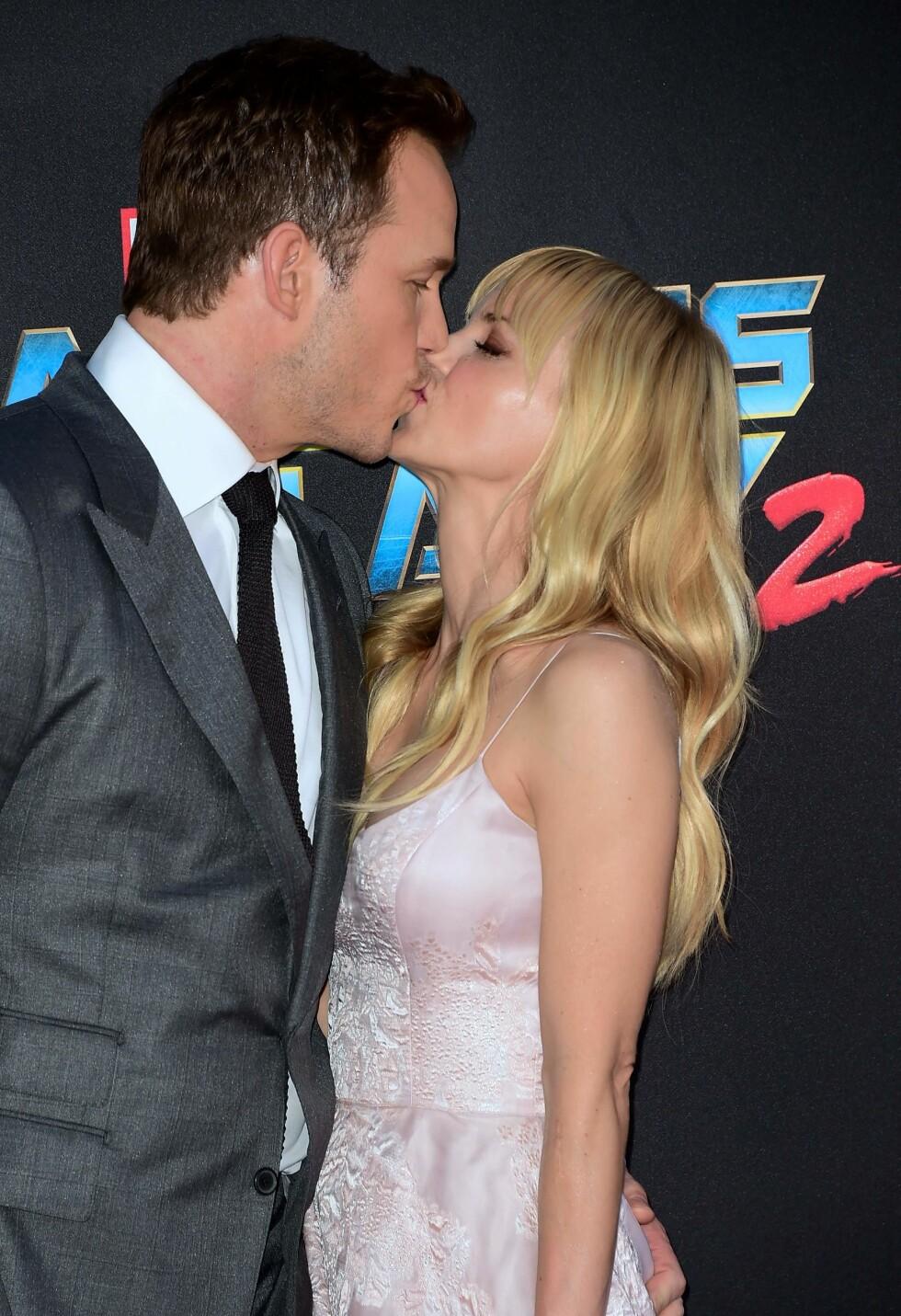 Anna Faris og Chris Pratt så ut til å være lykkelig gift, men bestemte seg for å gå hvert til sitt i august. Foto: NTB Scanpix