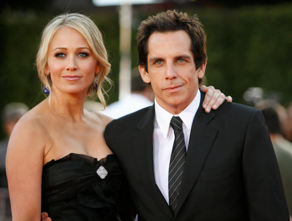 Ben Stiller og Christine Taylor hadde etablert seg som en stabilt par i Hollywood med hele 17 års ekteskap. I mai ble det kjent at de skulle separeres. Foto: NTB Scanpix