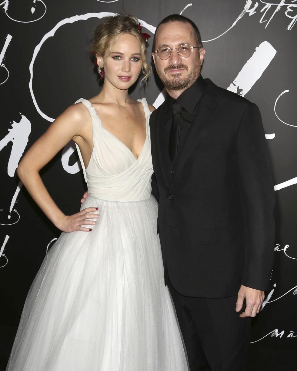 Regissøren Darren Aronofsky og skuespilleren Jennifer Lawrence holdt datingen gående i et år, men i november tok det slutt. Foto: NTB Scanpix