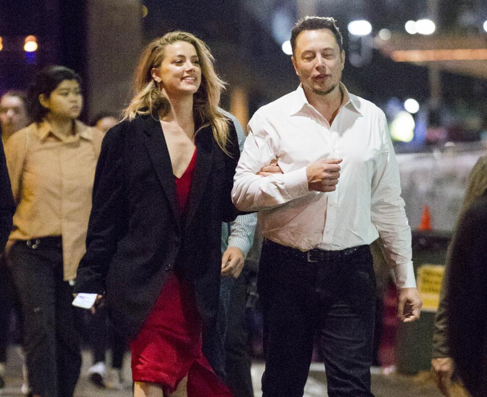 Elon Musk og Amber Heard datet i et år, men til slutt måtte de gi tapt for avstanden. Det å bo på hver sin kyst var ikke ideelt, men de skilles som gode venner. Foto: NTB Scanpix