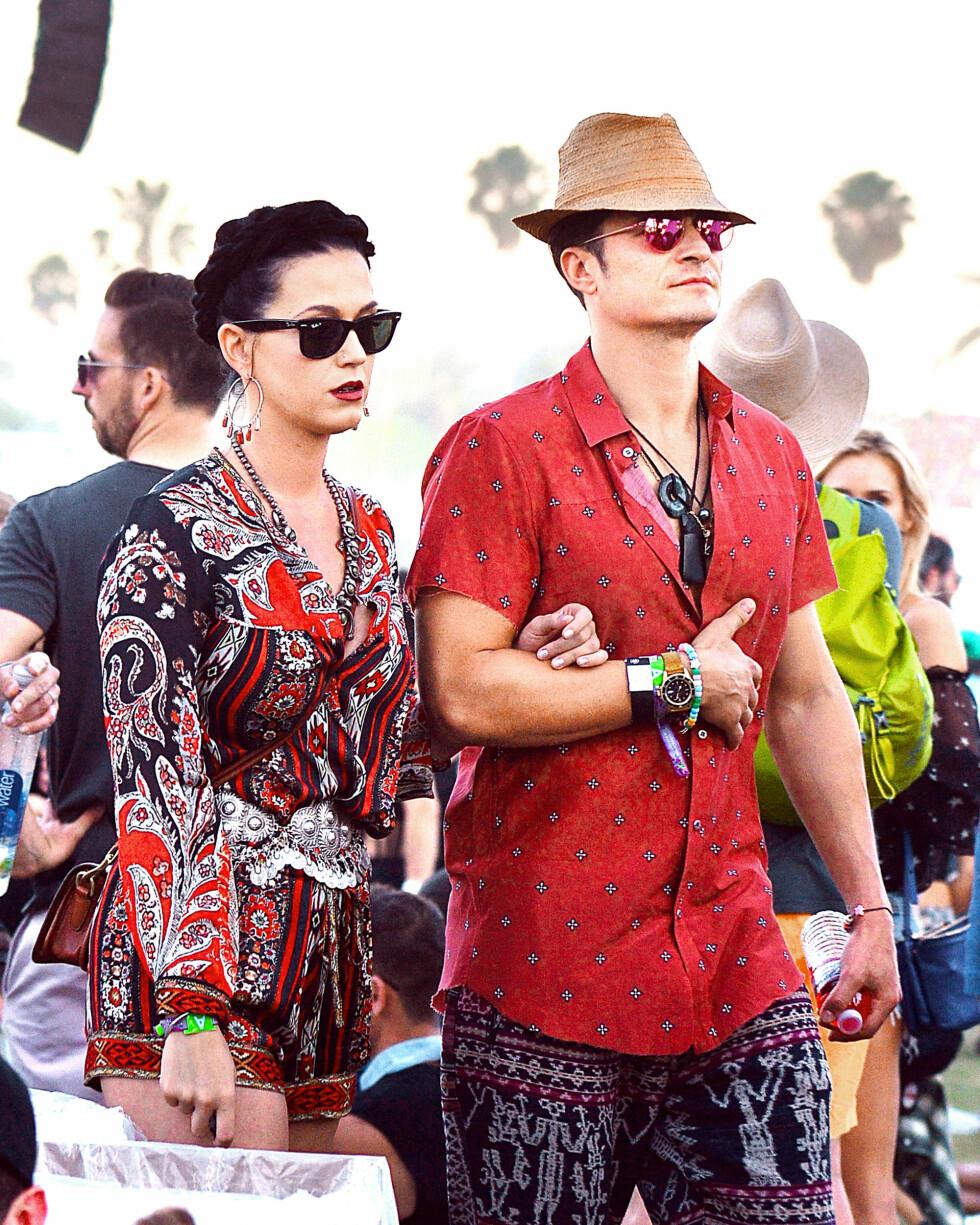 Orlando Bloom og Katy Perry var en ny og het nyforelskelse, og pressen elsket dem. Etter ti måneder med dating tok det slutt i februar. Foto: NTB Scanpix