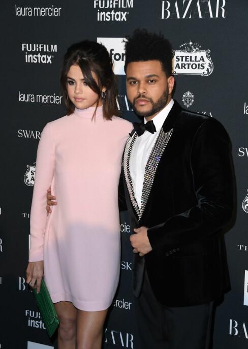 Abel Tesfaye, bedre kjent som The Weeknd og Selena Gomez hadde datet i 10 måneder, og ble raskt et hett kjendispar. I oktober tok imidlertid eventyret slutt, og ryktene sier nå at hun satser på Justin Bieber igjen i stedet. Foto: NTB Scanpix