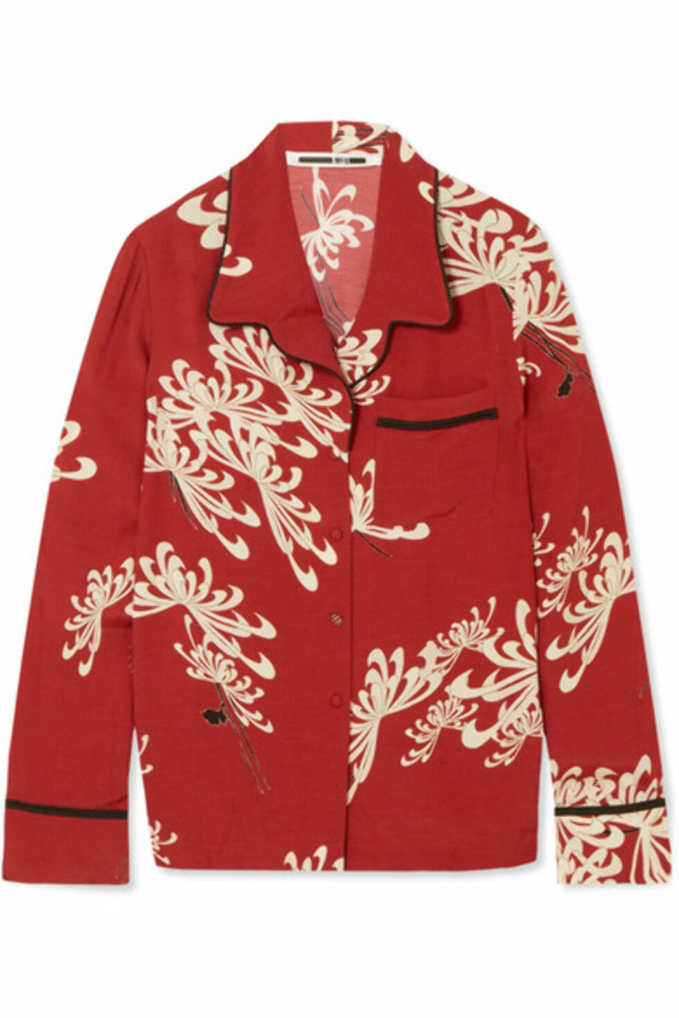 Skjorte fra Alexander McQueen via Net-a-porter.com  4300,-  https://www.net-a-porter.com/no/en/product/989279/mcq_alexander_mcqueen/printed-crepe-de-chine-shirt