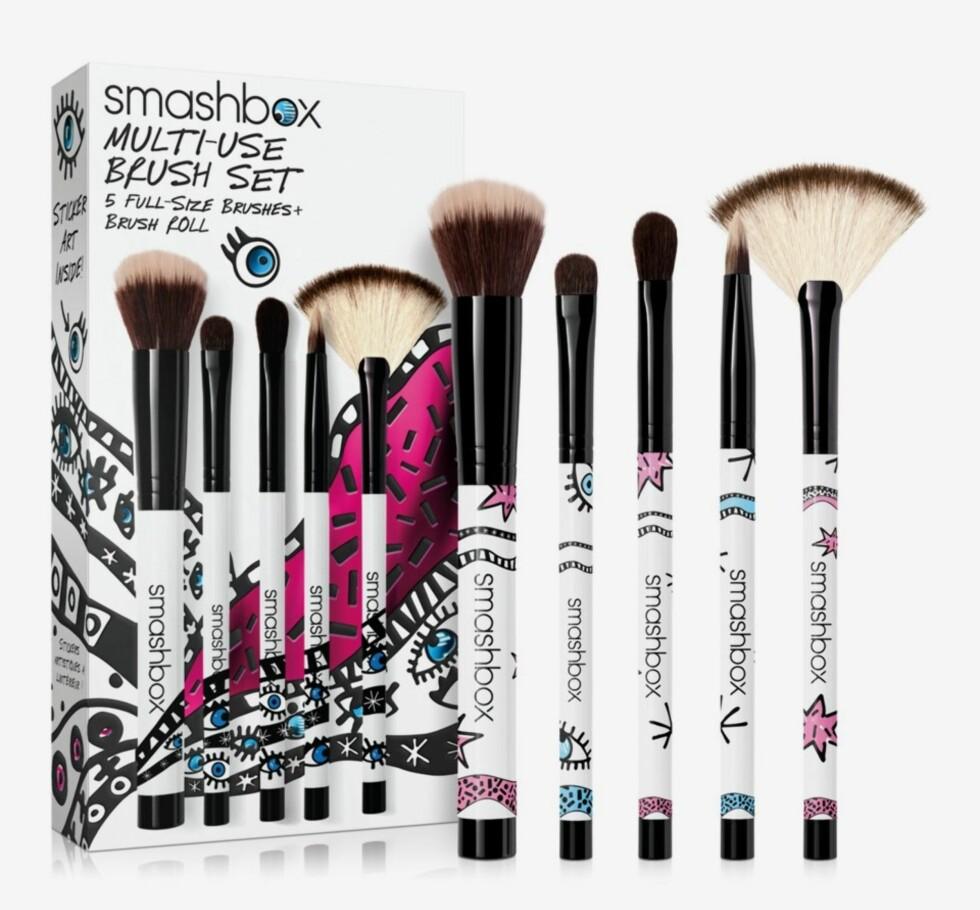 Sett med børster fra Smashbox via Kicks.no |650,-| https://www.kicks.no/makeup/gavetips/sbox-smashbox-brush-set-giftbo