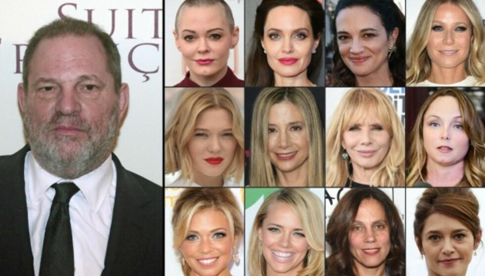 NOK ER NOK: Flere kvinner i Hollywood har den siste tiden stått frem med sine personlige historier tilknyttet film-mogulen Harvey Weinstein som omhandler seksuell trakassering og grove overgrep. Foto: NTB Scanpix