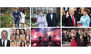Donald Trump ble president i USA, Therese Johaug ble dømt for doping og kong Harald ble meldt død