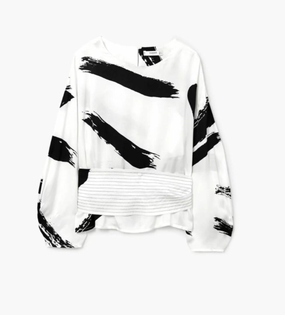 Bluse fra Mango |499,-| https://shop.mango.com/no/damer/skjorter-bluser/bluse-med-kontrasttrykk_21040659.html?c=02&n=1&s=guia_regalos_she&ts=1513070746585