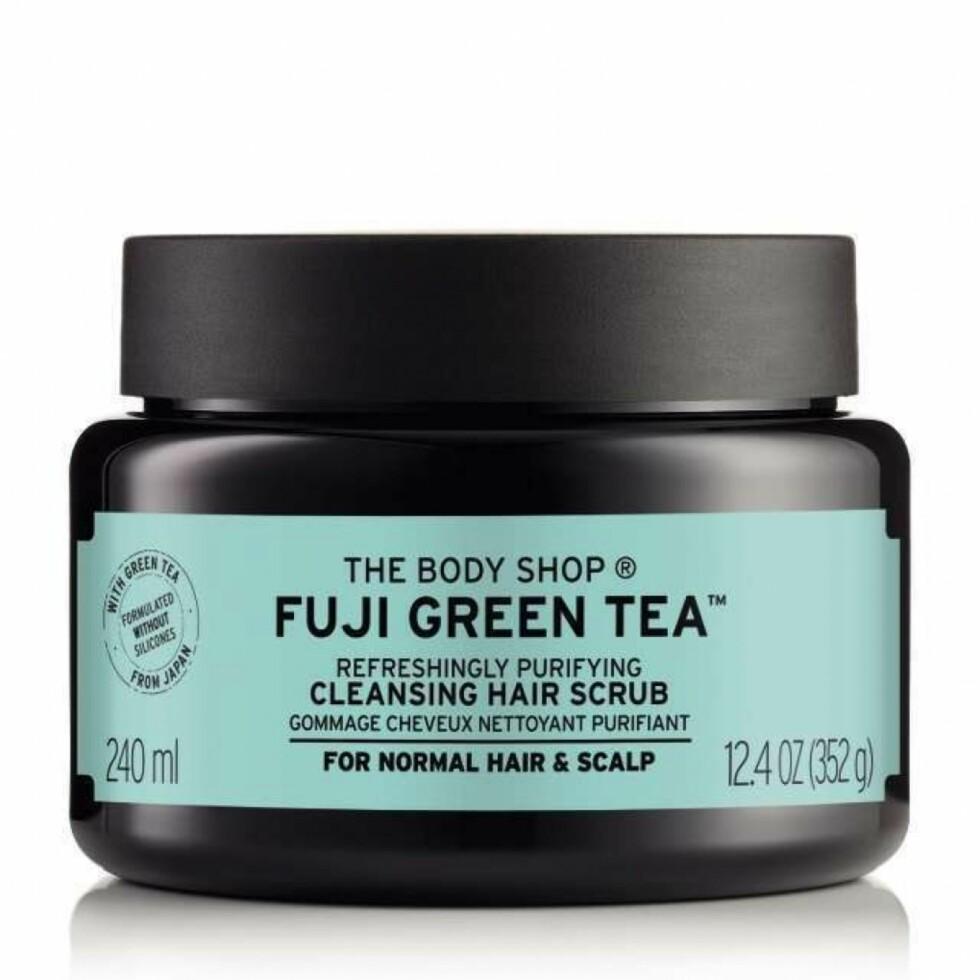 The Body Shop, Fuji Green Tea, Cleansing Hair Scrub (kr 220).