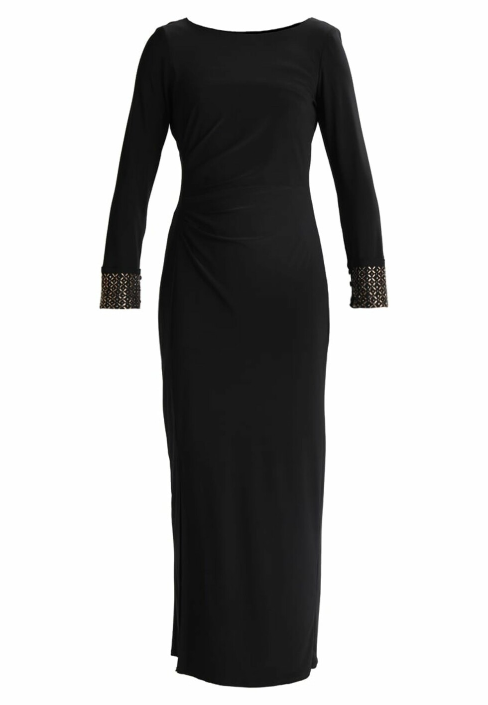 Kjole fra Wallis Petite |749,-| https://www.zalando.no/wallis-petite-moon-rouched-cuff-fotsid-kjole-black-wp021c02t-q11.html