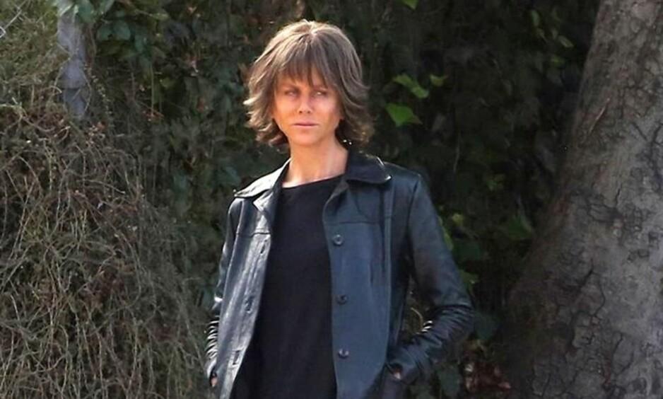 SER DU HVEM DER ER? I anledning innspillingen av den nye filmen Destroyer, har Nicole Kidman (50) fått en helt ny look. Foto: Skjermdump fra Instagram