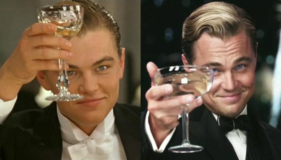 JACK OG JAY: Flere mener at Jack Dawson og Jay Gatsby er samme person. Foto: Titanic / The Great Gatsby
