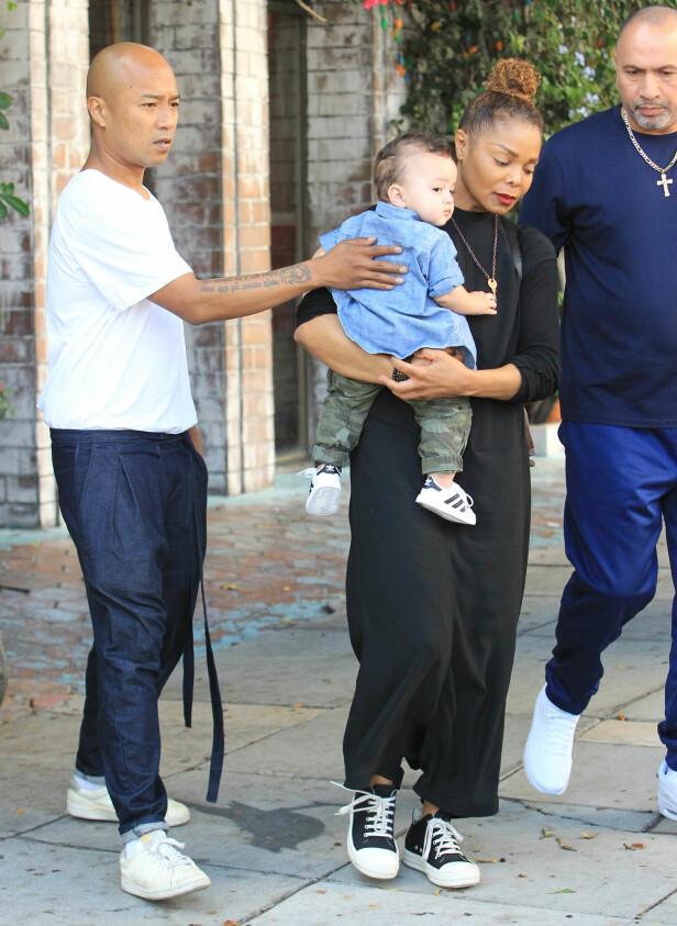 51 OG SMÅBARNSMOR: Janet Jackson var 50 år da hun fødte sitt første barn. Foto: NTB Scanpix