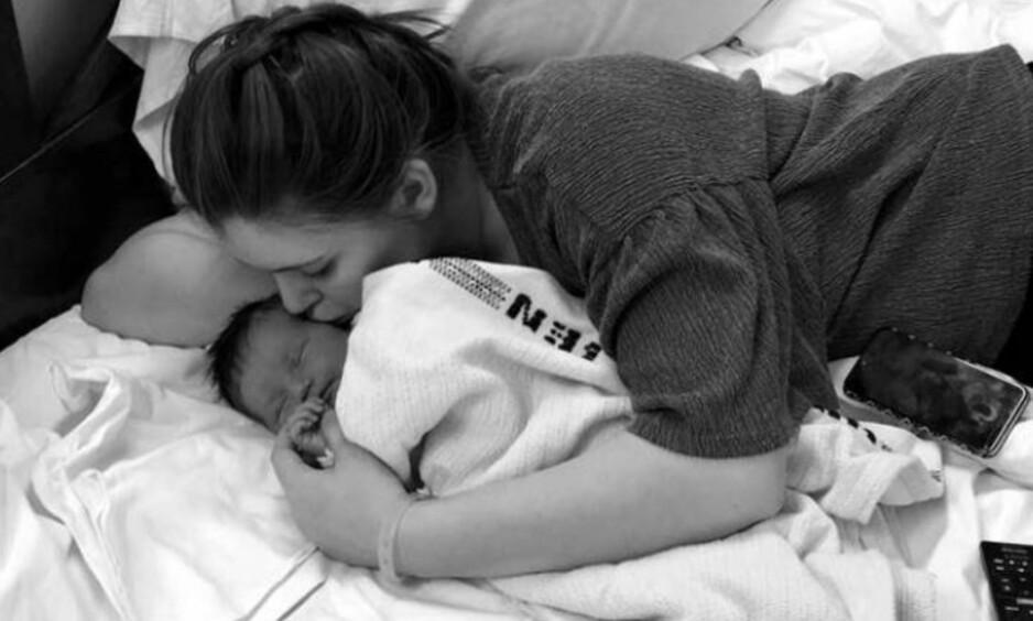 <strong>VISSTE IKKE AT HUN VAR GRAVID:</strong> Marie fikk beskjeden om at hun skulle bli mamma bare fire timer før datteren ble født. Foto: Privat