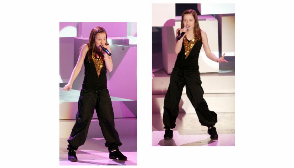 AMY DIAMOND: Den svenske barnestjernen, som gikk under artistnavnet Amy Diamond, gjorde massiv suksess med sine fengende hitlåter på midten av 2000-tallet. Her fra en opptreden i Oslo Spektrum i 2005. Foto: NTB Scanpix