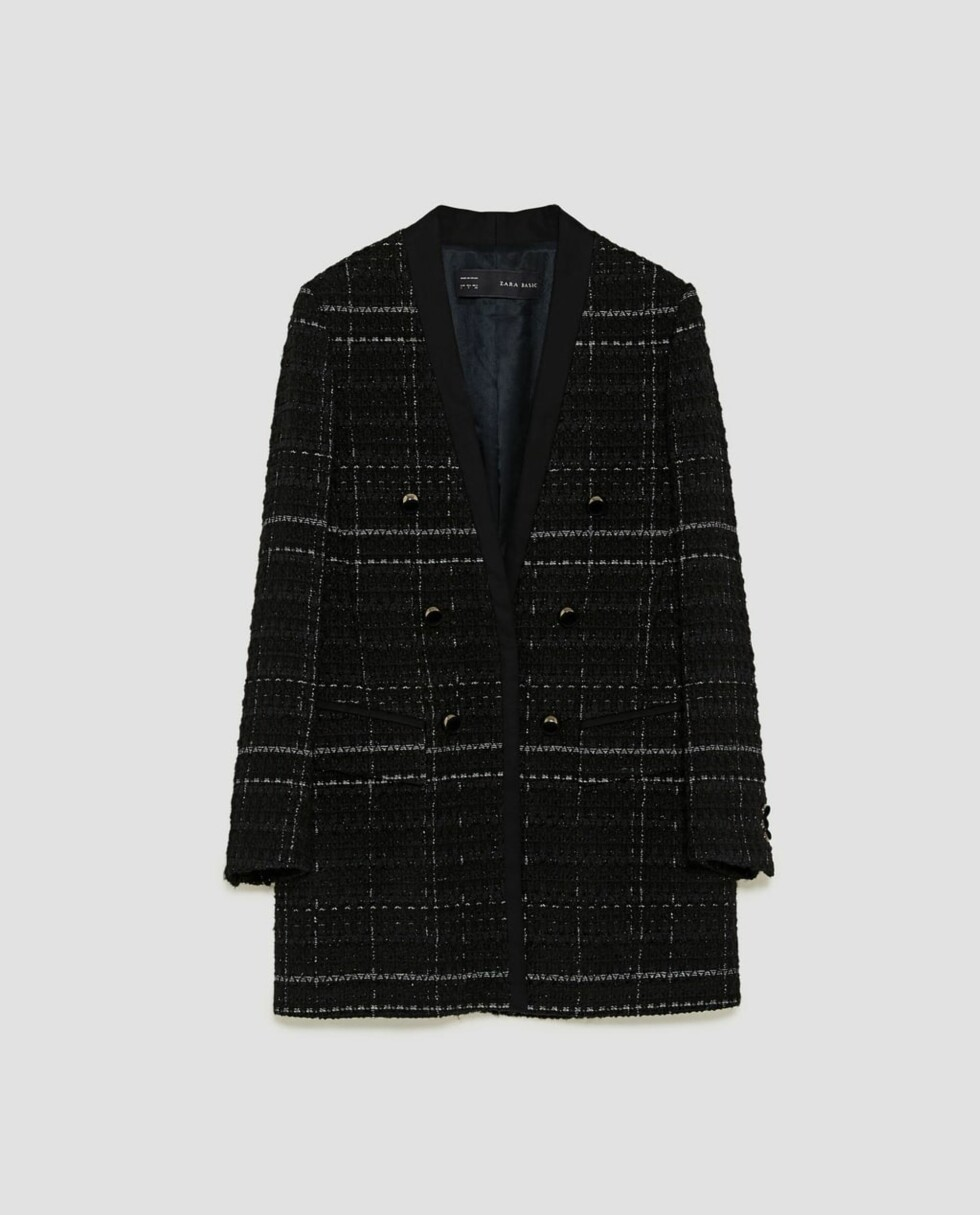 Blazer fra Zara |399,-| https://www.zara.com/no/no/rutet-k%C3%A5pe-med-struktur-p08212697.html?v1=5022023&v2=828222