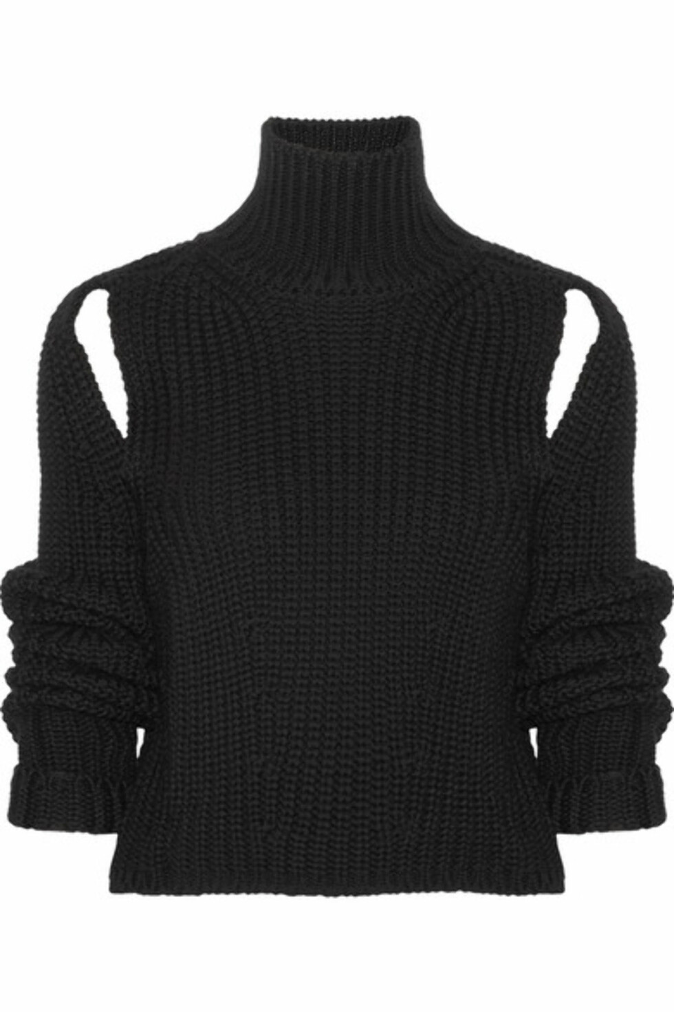 Genser fra Calvin Klein |4000,-| https://www.net-a-porter.com/no/en/product/928114/calvin_klein_205w39nyc/cropped-cutout-wool-sweater