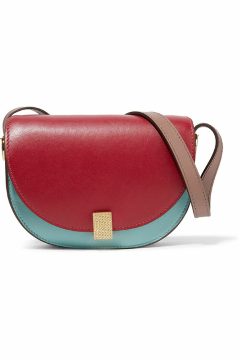 Veske fra Victoria Beckham  5730,-  https://www.net-a-porter.com/no/en/product/915221/victoria_beckham/half-moon-box-nano-leather-shoulder-bag
