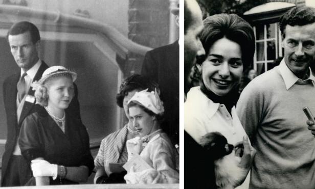 SOM TO DRÅPER VANN: Likheten mellom prinsesse Margaret (t.h. i venstre bildet) og Marie-Luce Jamagne er ekstrem! Prinsesse Margaret fikk dessverre aldri sitt livs kjærlighet, og etter at dronning Elizabeth slo fast at de ikke kunne gifte seg fordi han tidligere hadde vært gift, fridde han til den 26 år yngre belgiske kvinnen. Foto: NTB Scanpix