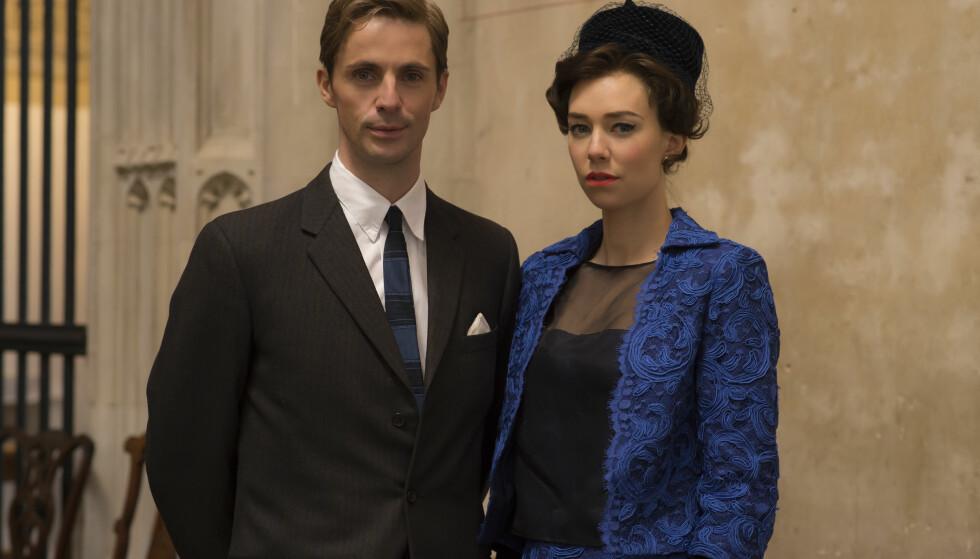 THE CROWN: I Netflix-serien spiller de britiske skuespillerne Vanessa Kirby og Matthew Goode ekteparet prinsesse Margaret og Antony Armstrong-Jones. Foto: Netflix