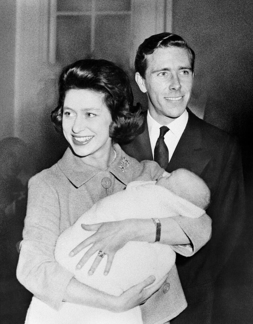 FORELDRE: Prinsesse Margaret og Lord Snowdon ble foreldre til David i november 1961. Tre år senere kom Lady Sarah til verden. Foto: NTB Scanpix