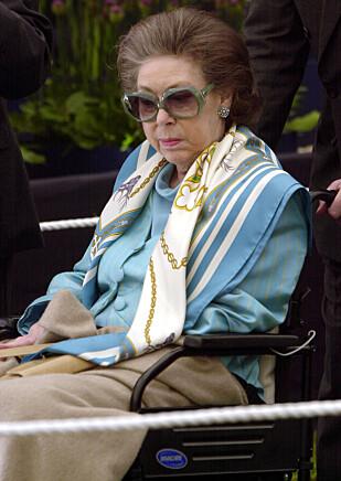 HJERNESLAG: De siste årene av livet sitt satt prinsesse Margaret i rullestol etter et hjerneslag. Hun gikk bort 9. februar 2002. Foto: NTB Scanpix