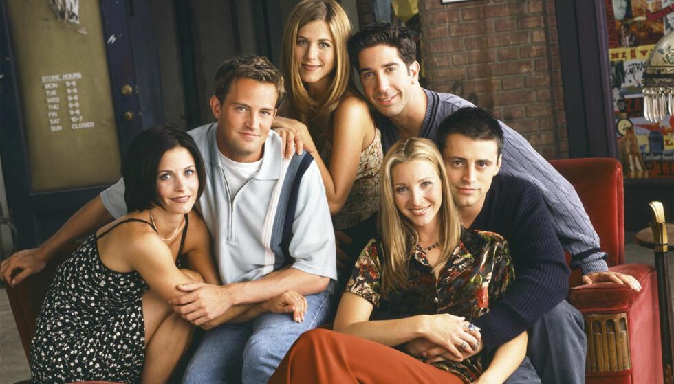 «FRIENDS»: De første årene av serien kunne de ikke engang vise et kondom i løpet av sendetiden. FOTO: Warner Bros