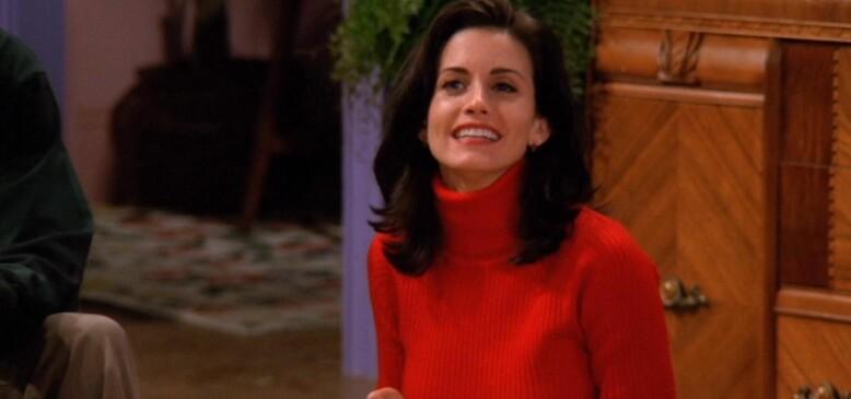 LIK: Monica Geller og Courteney Cox skal være helt like i virkeligheten. Foto: Warner Bros