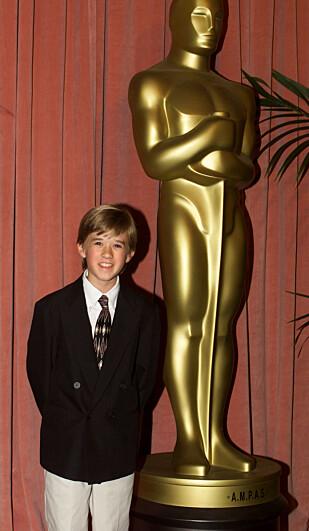 LOVENDE: Osment var nominert til Oscar i 2000, men tapte mot skuespiller Michael Caine. FOTO: NTB Scanpix
