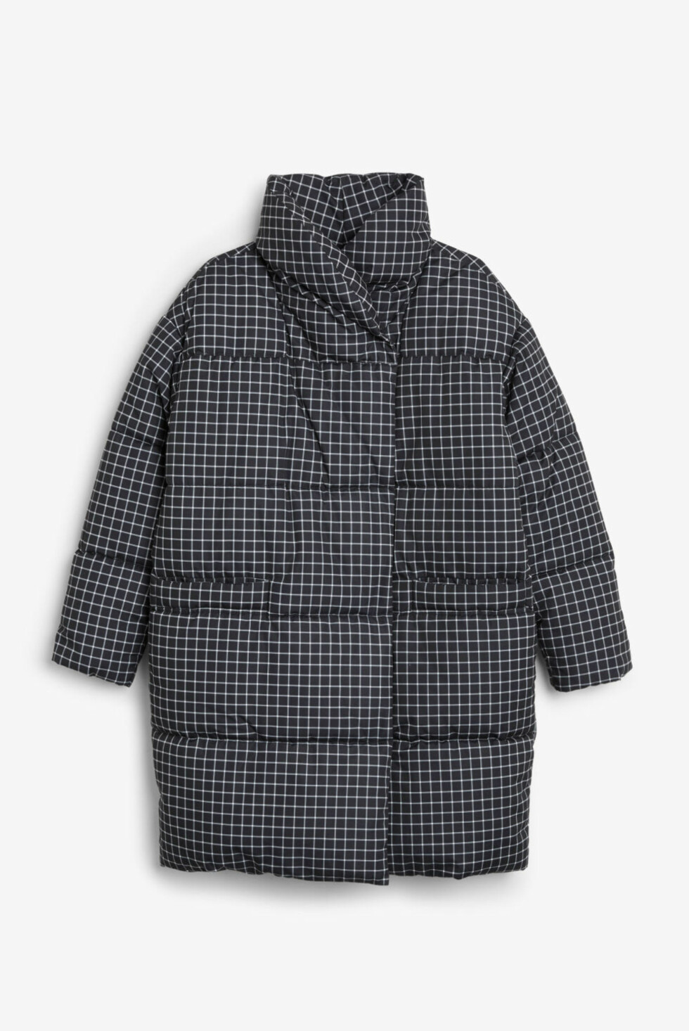 Boblejakke fra Monki |700,-| https://www.monki.com/en_sek/clothing/coats-and-jackets/product.puff-coat-black-magic/check-it-out.0409206006.html