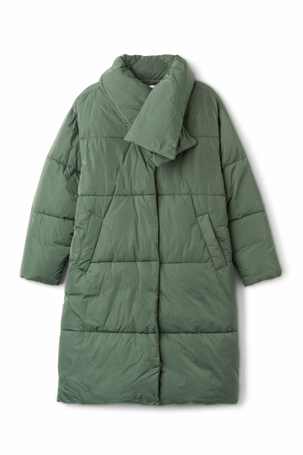 Boblejakke fra Weekday |1500,-| https://www.weekday.com/en_sek/women/categories/jackets-and-coats/_jcr_content/subdepartmentPar/productlisting.products/product.beat-puffer-coat-green.0541453003.html