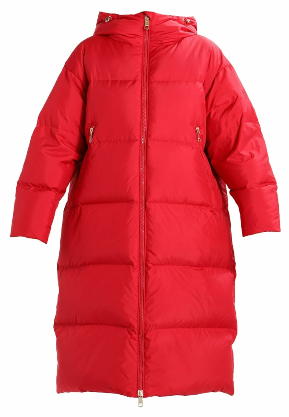 Boblejakke fra Tommy Hilfiger |3035,-| https://www.zalando.no/tommy-hilfiger-courtney-midi-dunkape-red-to121u00y-g11.html