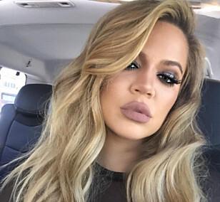 IKKE FOR ALLE: Matt-lilla leppestifter slik som på Khloé Kardashian har her, er ikke noe alle kler, mener Therese. Foto: Instagram