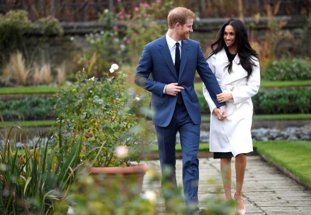FORLOVET: Prins Harry gifter seg med Meghan Markle 19. mai. Foto: Scanpix