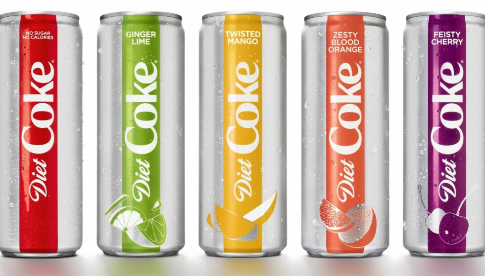 COCA COLA LIGHT: Coca Cola kommer med fire nye smaker til den populære light-varianten. FOTO: Coca Cola