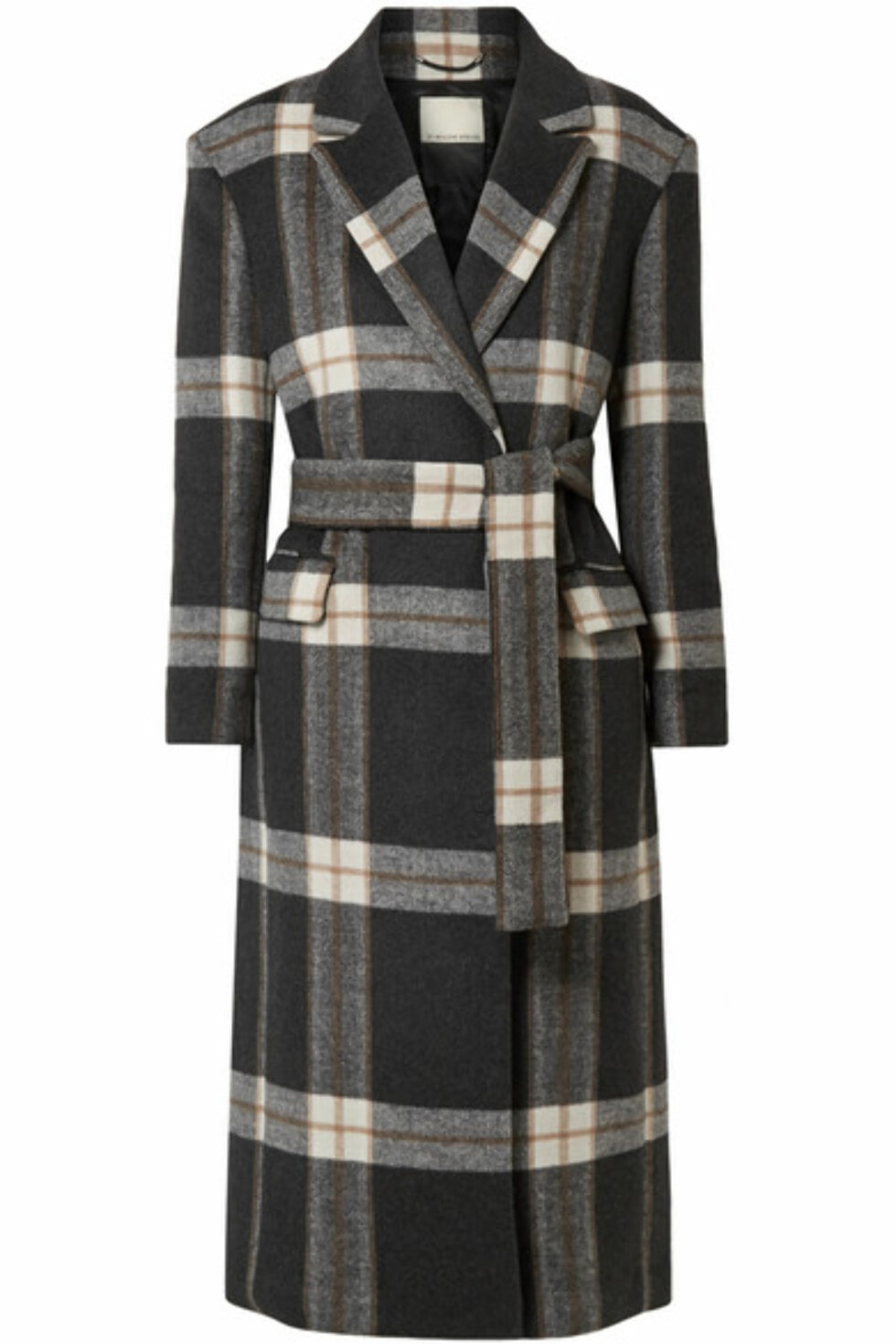 Kåpe fra By Malene Birger |6000,-| https://www.net-a-porter.com/no/en/product/991827/By_Malene_Birger/mariana-checked-brushed-felt-coat