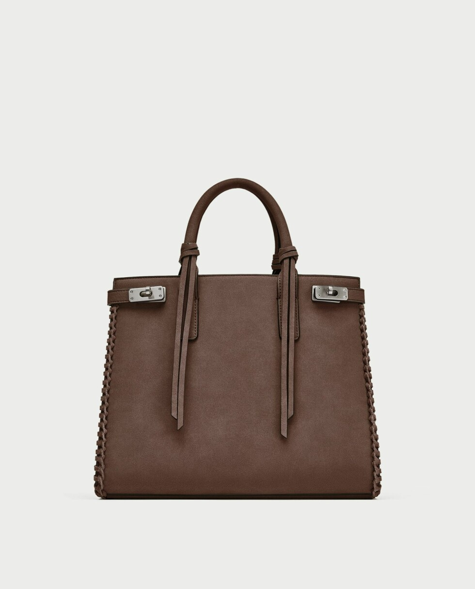 Veske fra Zara |559,-| https://www.zara.com/no/no/citybag-med-kanting-p11026304.html?v1=5320876&v2=358019