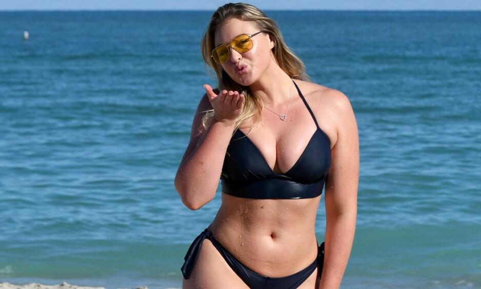 BODY-SHAMING: Den britiske plus size-modellen Iskra er lei av kroppsfokuset i sosiale medier. FOTO: NTB Scanpix.