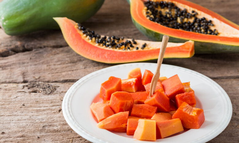 <strong>PAPAYA:</strong> Med hele tre gram fiber burde papaya være en klar favoritt. FOTO: NTB Scanpix