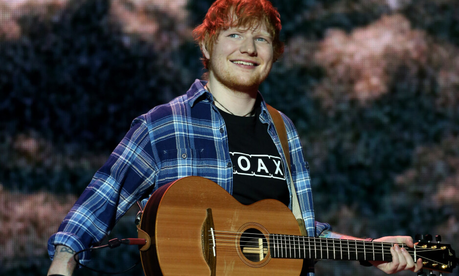 ED SHEERAN: Ed Sheeran fridde til kjæresten Cherry Seaborn, og fikk ja. FOTO: NTB Scanpix