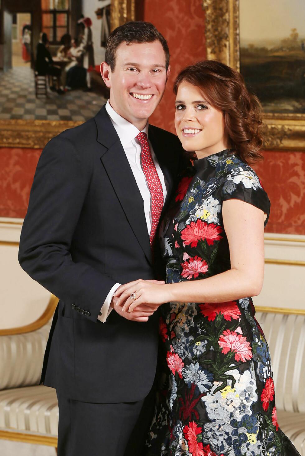 FORLOVET: Til høsten blir det bryllup mellom prinsesse Eugenie og kjæresten Jack. Foto: NTB Scanpix
