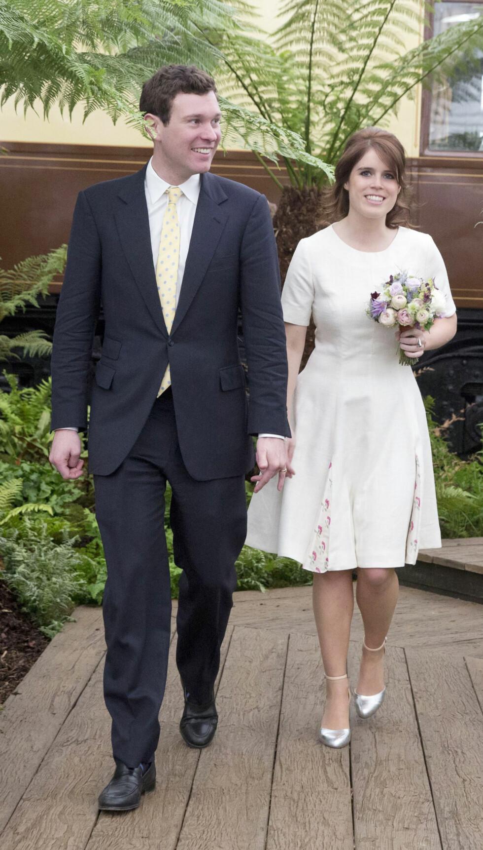 HVIT BRUD: Vi gleder oss til å se prinsesse Eugenie som brud høsten 2018. Dette bildet ble tatt under Chelsea Flower Show i 2016. Foto: NTB Scanpix