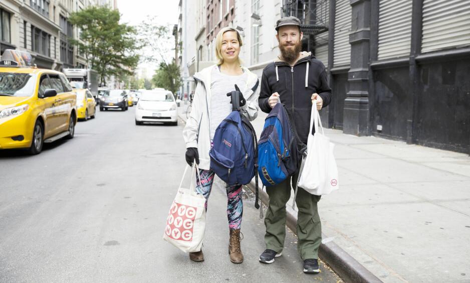 NEW YORK: Jennifer Liepen og Sandy Patch eier et hus til rundt tre millioner i New Jersey - som de aldri har bodd i. For å finansiere boligutgiftene leier de ut huset gjennom Airbnb og jobber som kjæledyrpassere for ukjente mennesker som er bortreist. Da sover de på sofaen deres. FOTO: NTB Scanpix