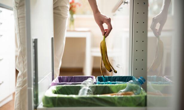 KILDESORTERING: Når vi kildesorterer riktig, kan vi slanke vekk over halvparten av restavfallet. FOTO: NTB Scanpix