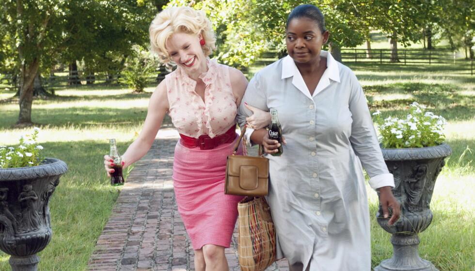 SPILLER SAMMEN: Chastain og Spencer gjenforenes i ny film. Her i rollene fra «The Help» i 2011. FOTO: NTB Scanpix