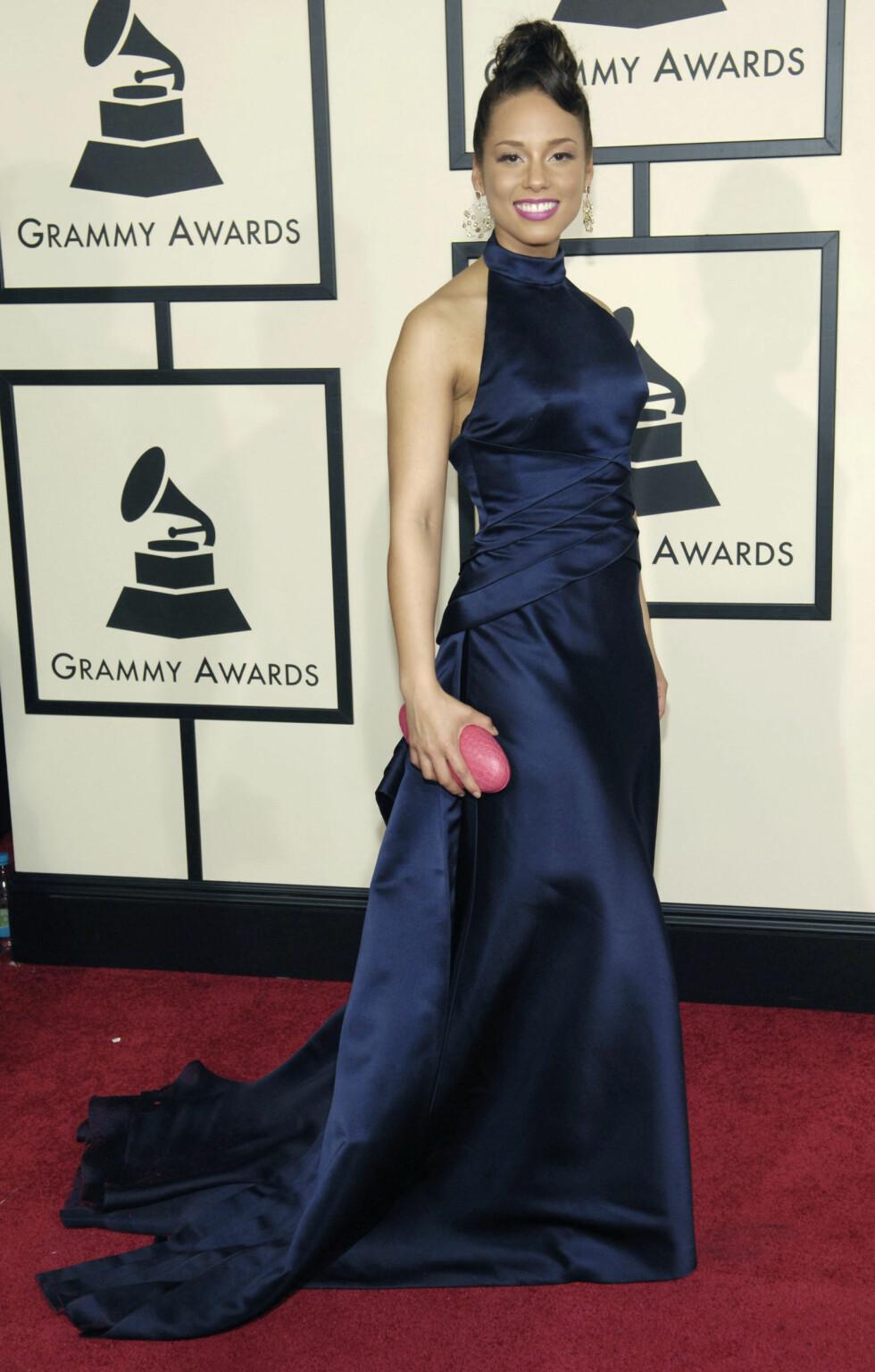 VAKKER: Alicia Keyes på rød løper under Grammy-utdelingen i 2008. Foto: NTB Scanpix