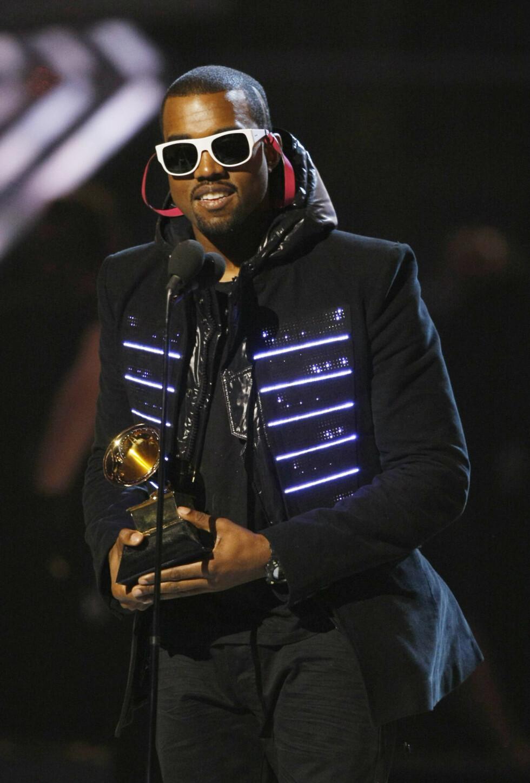 FLEST NOMINASJONER: Rapperen Kanye West ble i 2008 nominert i hele åtte kategorier - han vant fire priser. Blant annet for beste raplåt og album. Foto: NTB Scanpix