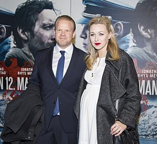 FORELDRE: I midten av januar ble skuespillerparet Anders Baasmo Christiansen og Marie Blokhus foreldre for første gang. Her fra Fredrikstad-premieren på Den 12. mann i slutten av desember. Foto: NTB Scanpix