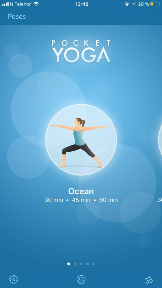 Pocket Yoga gjør det mulig å gjøre yoga når enn det måtte passe. Foto: Screenshot