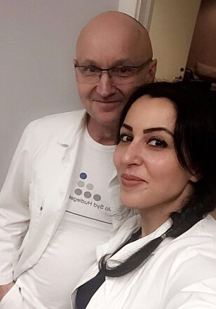 SPIS RIKTIG: Bondevik og Abdeh ved Dr. Bondeviks Privatklinikk anbefaler å spise riktig, for å holed huden ung. FOTO: Privat